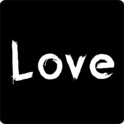 Etiket sticker 'Love'
