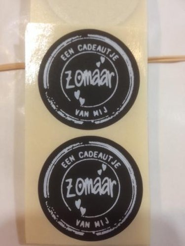 Etiket sticker 'Zomaar'